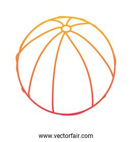 beach ball rubber toy play image