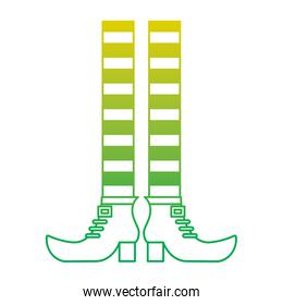 leprechaun legs with shoes and striped socks