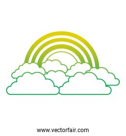 rainbow and cloud in the sky