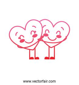 couple in love two cute hearts hugging romance