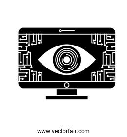 monitor computer eye security data circuit connection