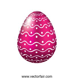 decorative easter egg dots and waves ornament