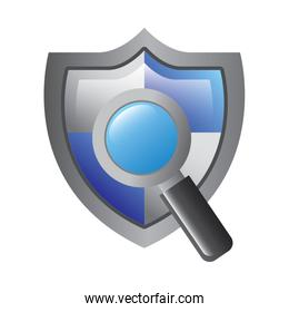 shield protection magnifier search data information