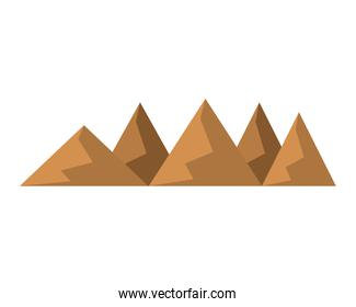 silhouettes of hills and mountains from dessert
