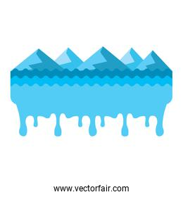 melted landscape mountains water disaster
