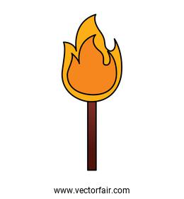 fire stick burn hot flame icon