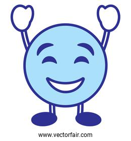 emoticon cartoon face smiling character blue