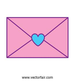 envelope message letter romance pink and blue