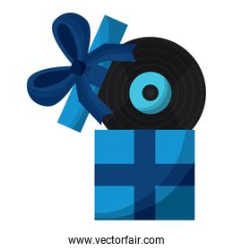 gift box with vinyl disk surprise