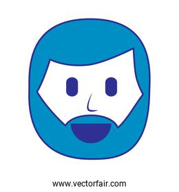 character man beard face laughing expression