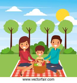 family together characters