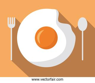 breakfast cooking icons flat design