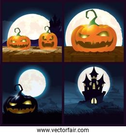 bundle of halloween dark scenes
