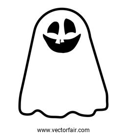 halloween ghost floating character icon