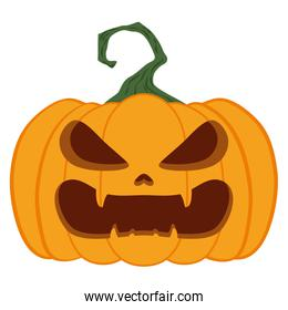 halloween pumpkin with face character