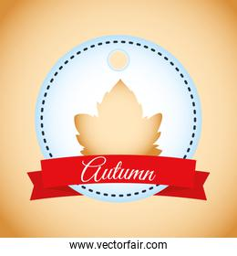 autumn sale seasonal label icon
