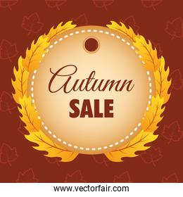autumn sale circular seasonal frame