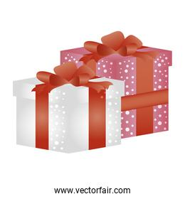 gifts boxes presents isolated icons