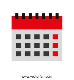 calendar reminder with magnifying glass