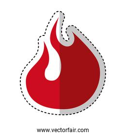 fire flame sign isolated icon