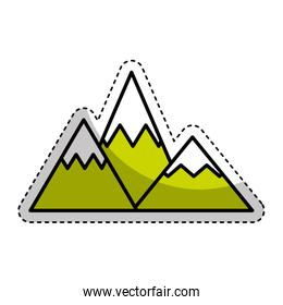 mountain silhouette isolated icon