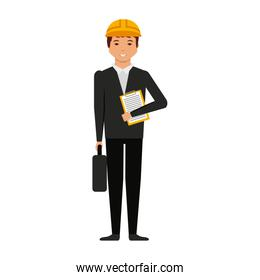 Construction professional avatar character