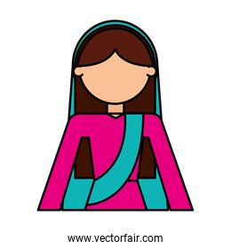 indian woman avatar character