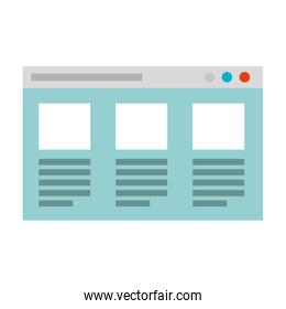 web page template isolated icon