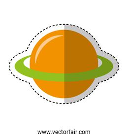 planet saturn isolated icon