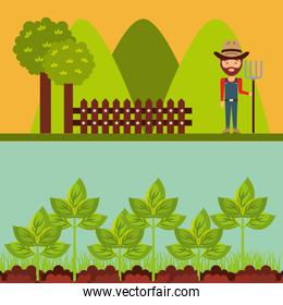 agriculture production concept icon