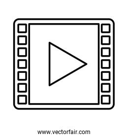 media player symbol isolated icon