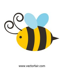 cute bee flying icon