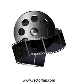reel tape record isolated icon
