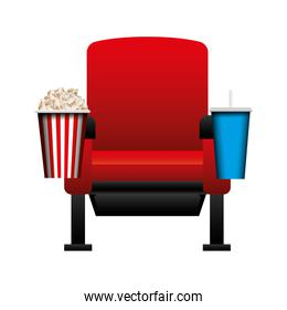 cinema chair isolated icon