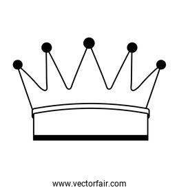 crown king isolated icon