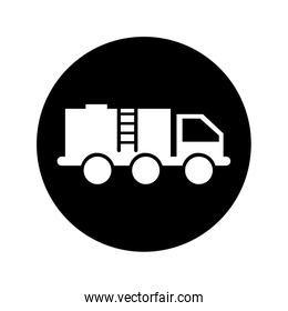 oil truck isolated icon