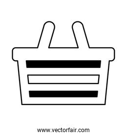 basket shopping isolated icon
