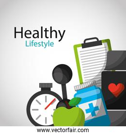 healthy lifestyle concept icons