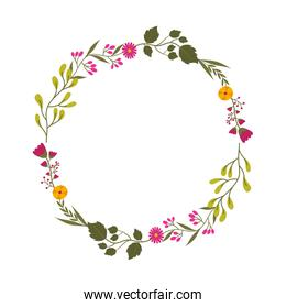 Decorative floral crown icon
