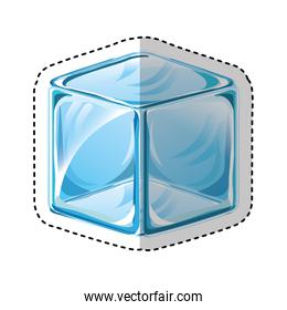 ice cube isolated icon