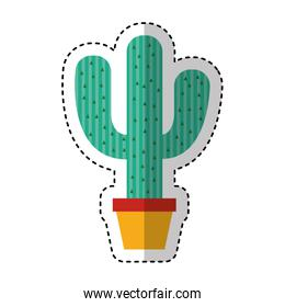 mexican cactus isolated icon