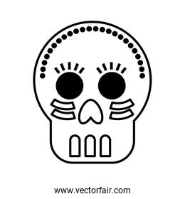 mexican skull mask icon