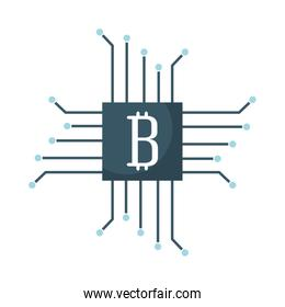 circuit with bitcoin icon