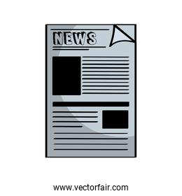 newspaper notices isolated icon