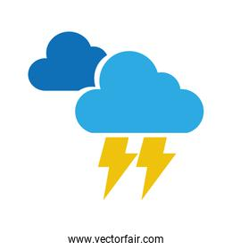 electric storm weather isolated icon