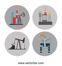 oil industry business icons