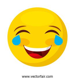 comic face emoticon isolated icon