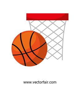 basket sport isolated icon