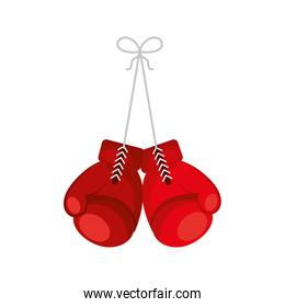 boxing gloves isolated icon