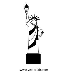 liberty statue isolated icon